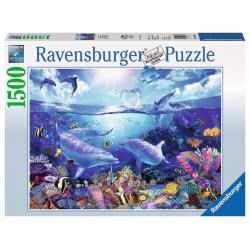 Ravensburger Παζλ 1500Τεμ. Παιχνιδιάρικα Δελφίνια 16331 4005556163311