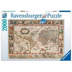 Ravensburger Παζλ 2000τεμ. Ιστορικός Παγκόσμιος Χάρτης 05-16633 4005556166336