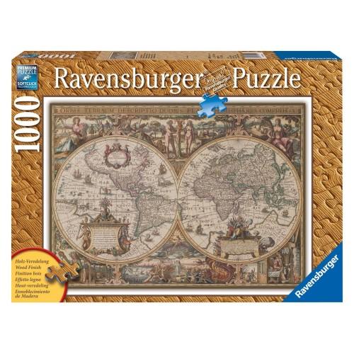 Ravensburger Παζλ 1000τεμ. Παλιός Παγκόσμιος χάρτης 19004 4005556190041