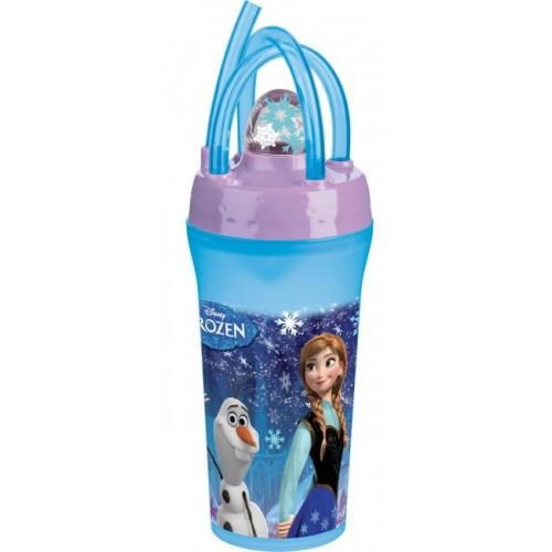 troudeau Disney Frozen Snow Ποτήρι Με Καλαμάκι TRU60775 063562607759