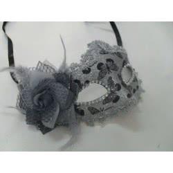 maskarata Αποκριάτικη μάσκα ασημί Lux Α0444 5200304404442