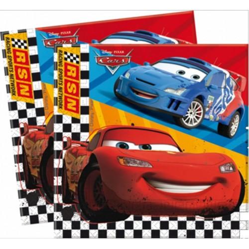 81560-20 2-ply paper napkins 33x33cm CARS RSN