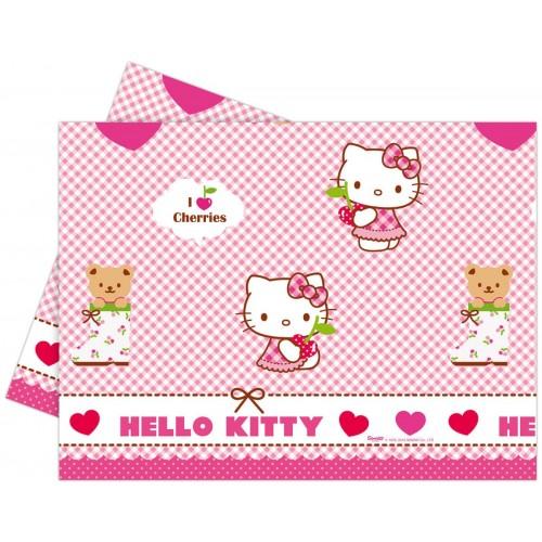 PROCOS Τραπεζομάντιλο Πλαστικό Hello Kitty Hearts Πλαστικό 120X180 081795 5201184817957