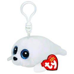 ty Beanie Babies Χνουδωτό κλιπ Φώκια άσπρη 8.5 εκ. 1607-36624 008421366248