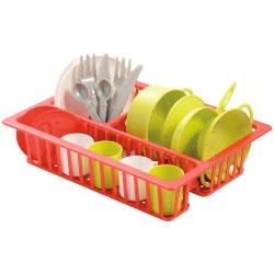 ecoiffier παιδικό σετ με κουζινικά είδη 606 3280250006060