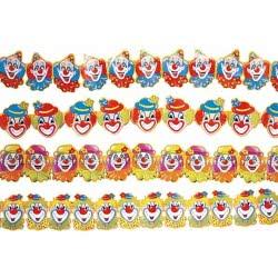 maskarata Αποκριάτικη γιρλάντα χάρτινη clown 3 μέτρα - 4 σχέδια ΙΝ72155 8003558215508