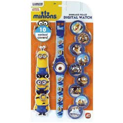 As company Παιδικό ψηφιακό ρολόι με 10 καπάκια Minions 1027-64126 5203068641269