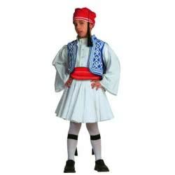 CLOWN Παραδοσιακή στολή Τσολιάς κομπλέ με καλσόν Νο 4-6 ετών 70822 5203359708220