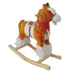 Toys-shop D.I B/O Κουνιστό ξύλινο αλογάκι με ήχους αλόγου JB049990 6990416499908