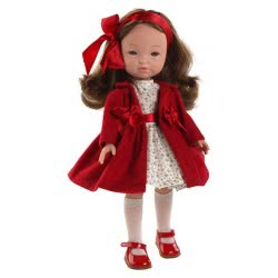berjuan Ισπανικές Κούκλες 35Εκ FASHION GIRL ABRIGO ROJO 0842 8421560008428