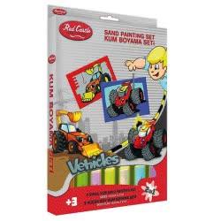 Red Castle Sand Painting Cards Ζωγραφίζω Με Άμμο Οχήματα DS208 8699296253560