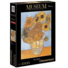 Clementoni Παζλ 1000τεμ. Museum Collection Van Gogh: Girasoli 1260-31438 8005125314386