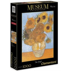 Clementoni Παζλ 1000τεμ. Museum Collection Van Gogh: Girasoli 1260-31438 8005125314386