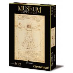 Clementoni Παζλ 500τεμ. Museum Collection Λεονάρντο Ντα Βίντσι: Uomo Vitruviano 1220-35001 8005125350018