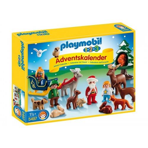 Playmobil Χριστουγεννιάτικο Ημερολόγιο 123 Χριστούγεννα Στο Δάσος 5497 4008789054975