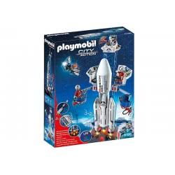 Playmobil Διαστημικός Πύραυλος Με Βάση Εκτόξευσης 6195 4008789061959