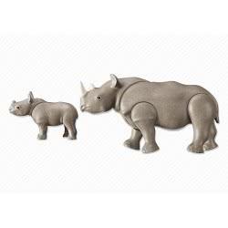 Playmobil Ρινόκερος Με Το Μικρό Του 6638 4008789066381