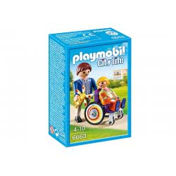 Playmobil Παιδί σε νοσοκομειακό καροτσάκι 6663 4008789066633