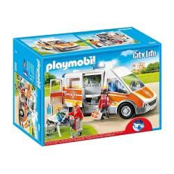 Playmobil Ασθενοφόρο με σειρήνα και φάρο που αναβοσβήνει 6685 4008789066855
