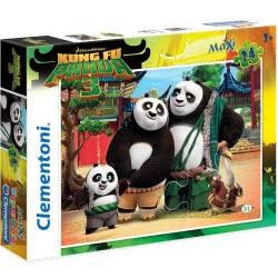 Clementoni Παζλ 24Τεμ Maxi Super Color Kung Fu Panda 1200-24475 8005125244751