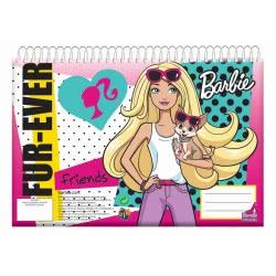 GIM Μπλοκ Ζωγραφικής A4 Σπιράλ 30Φ. Barbie 349-53413 5204549061828
