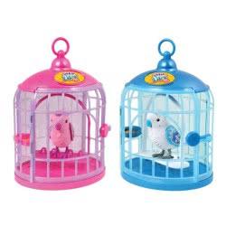GIOCHI PREZIOSI Little Live Pets S4 Πουλάκι Με Κλουβί - 2 Σχέδια LPB02000 8056379008996