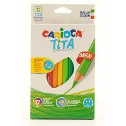 CARIOCA Ξυλομπογιές Maxi Tita 12 χρωμάτων 23069 8003511427894