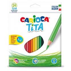 CARIOCA Ξυλομπογιές Tita 24 χρωμάτων 23068 8003511427948