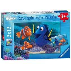 Ravensburger Ψάχνοντας Την Ντόρι Finding Dory Παζλ 2 X 12 05-07601 4005556076017