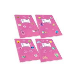 SKAG Τετράδιο Φούξια Χρωματιστό Fancy 17x25-50 Φύλλων 80gr 1Τμχ 246811 5201303246811