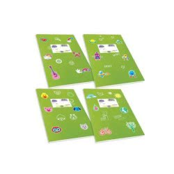 SKAG Τετράδιο Λαχανί Χρωματιστό Fancy 17X25-50 Φύλλων 80Gr 1Τμχ 246828 5201303246828