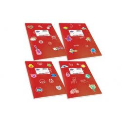 SKAG Τετράδιο Κόκκινο Χρωματιστό Κλασικά Super 17 X 25 - 50 Φύλλων 80Gr 1Τμχ 246873 5201303246873