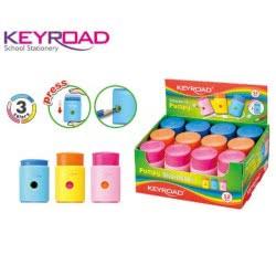 Keyroad Ξύστρα Πλαστική Βαρελάκι Μονή 300.971298 6954884548704