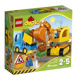 LEGO DUPLO Town Φορτηγό Και Ερπυστριοφόρος Εκσκαφέας 10812 5702015599399