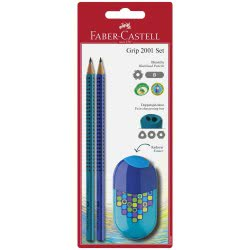 Faber-Castell Σετ 2 μολύβια και ξύστρα 12308996 4005401835608