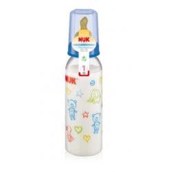 NUK Μπιμπερό Πλαστικό Classic με Θηλή Latex 0-6m 240ml 10741417 4008600129943