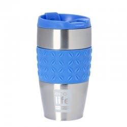 eco life Κούπα-Θερμός για Καφέ Silicon Blue 400ml 33-BO-4004 5208009001362