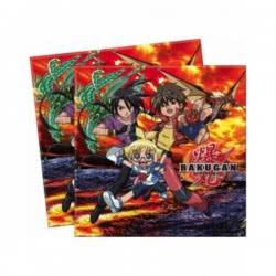 PROCOS Bakugan 2-ply napkins 20pieces, 33x33cm 10 5712 5201184049570
