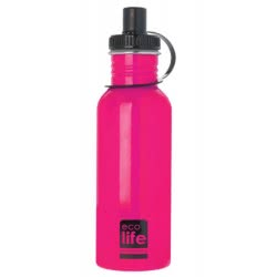 eco life Μεταλλικο μπουκάλι 600ml Ροζ 33-ΒΟ-1009 5208009001621