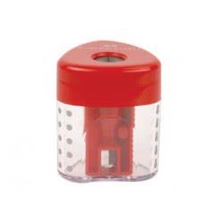 Faber-Castell Ξύστρα τριγωνική μονή κόκκινη 183401 6933256621177