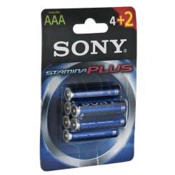 SONY Αλκαλικές μπαταρίες AAA Stamina Plus 4+2 δώρο AM4-B4X2D 008562012066