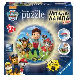 Ravensburger Paw Patrol Puzzleball 3D 72pcs 05-12187 4005556121878