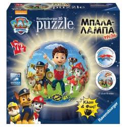 Ravensburger Paw Patrol Puzzleball Παζλ 3D Μπάλα λάμπα 72τμχ 05-12187 4005556121878