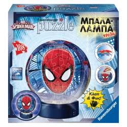 Ravensburger Spiderman Puzzleball Παζλ 3D Μπάλα Λάμπα 108Τμχ 05-12256 4005556122561