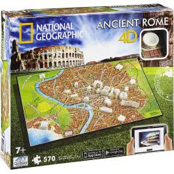 GIOCHI PREZIOSI National Geographic Puzzle 4D Ancient Rome Αρχαία Ρώμη 61004 714832610046