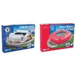 GIOCHI PREZIOSI Nanostad 3D Stadium - 2 Σχέδια Bayern, Chelsea GPZ15135 8001444140774