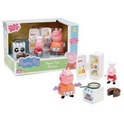 GIOCHI PREZIOSI Peppa Pig Κουζίνα με 2 φιγούρες PPC07001 8056379014164
