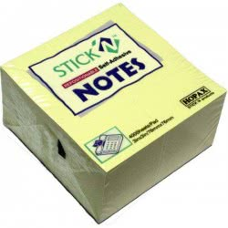 OEM Χαρτάκια Σημειώσεων Stick N` Cube Κίτρινα 76Χ76mm 400Φ. 550.21072 4712759210727