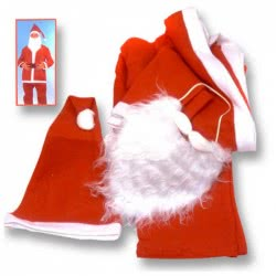 OEM Χριστουγεννιάτικη στολή ενήλικα Άγιος Βασίλης One size 931003 0931003000010