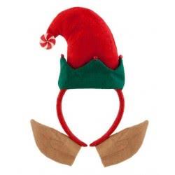 Christakopoulos Χριστουγεννιάτικη κόκκινη στέκα ξωτικό με αυτιά 4640 5212007529971